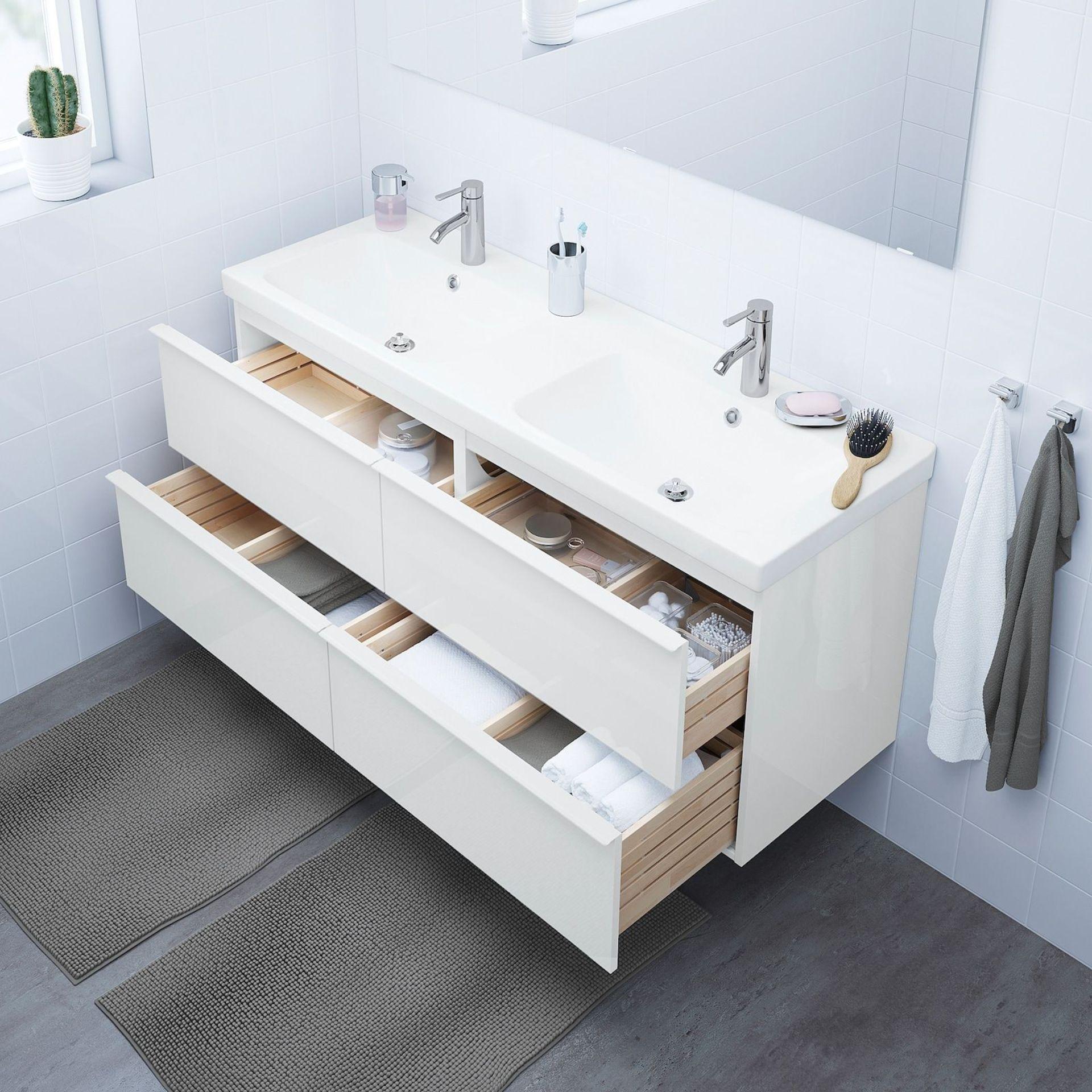 IKEA bathroom furniture assembly